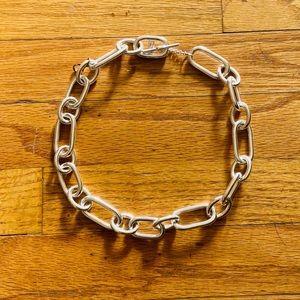 Ralph Lauren Silver Chain Link Choker Necklace